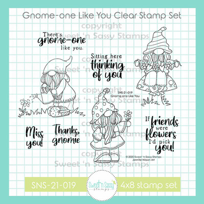 Gnome-one Like You Clear Stamp Set