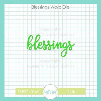 Blessings Word Die