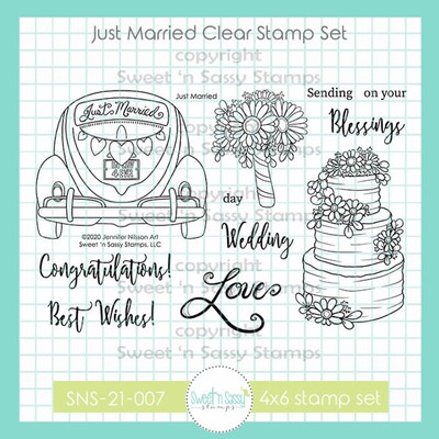 Just Married Clear Stamp Set