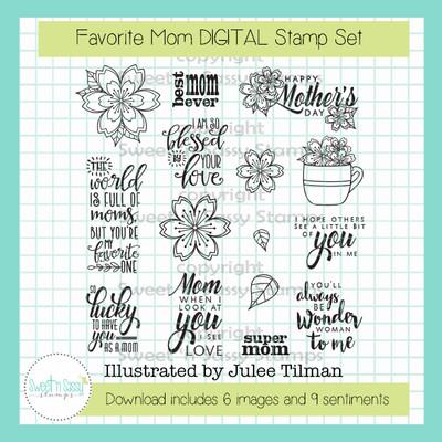 Favorite Mom DIGITAL Stamp Set