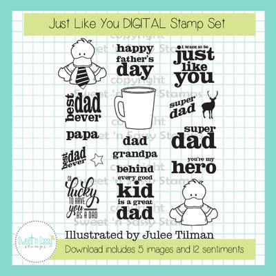 Just Like You DIGITAL Stamp Set