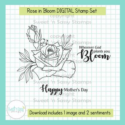 Rose in Bloom DIGITAL Stamp Set