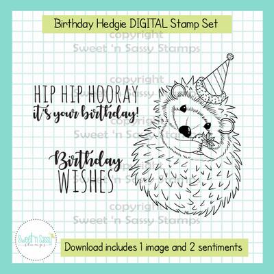 Birthday Hedgie DIGITAL Stamp Set