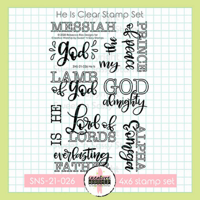 Creative Worship: He Is Clear Stamp Set
