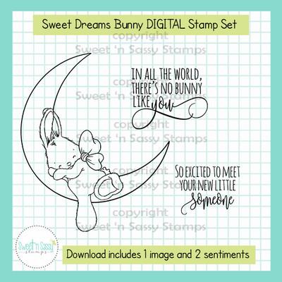 Sweet Dreams Bunny DIGITAL Stamp Set