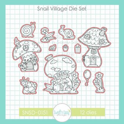 Snail Village Die Set