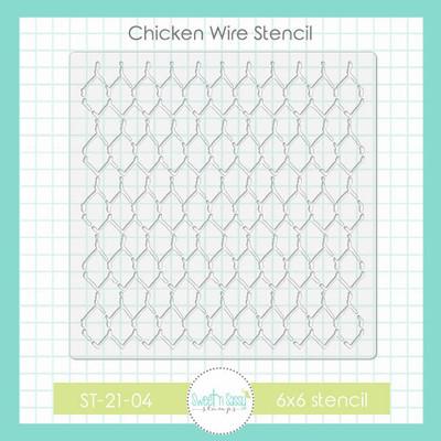 Chicken Wire Stencil