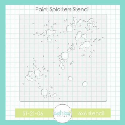 Paint Splatters Stencil
