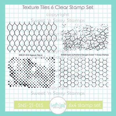 Texture Tiles 6 Clear Stamp Set