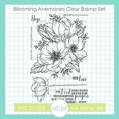 Blooming Anemones Clear Stamp Set