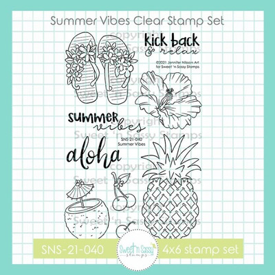 Summer Vibes Clear Stamp Set