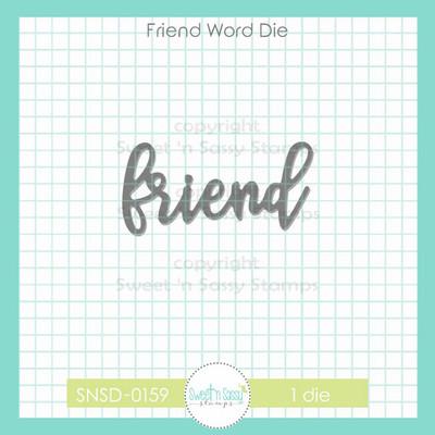 Friend Word Die