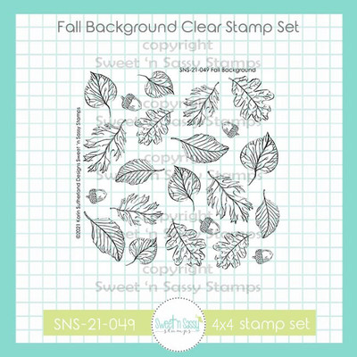 Fall Background Clear Stamp
