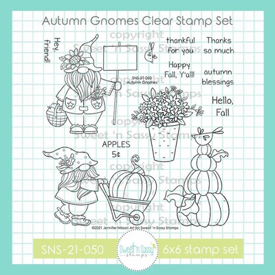 Autumn Gnomes Clear Stamp Set