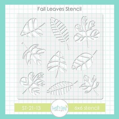 Fall Leaves Stencil