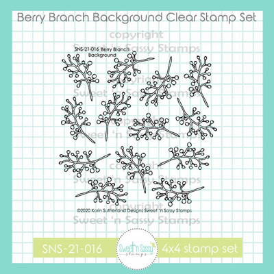 Berry Branch Background Clear Stamp