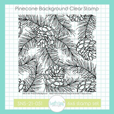 Pinecone Background Clear Stamp