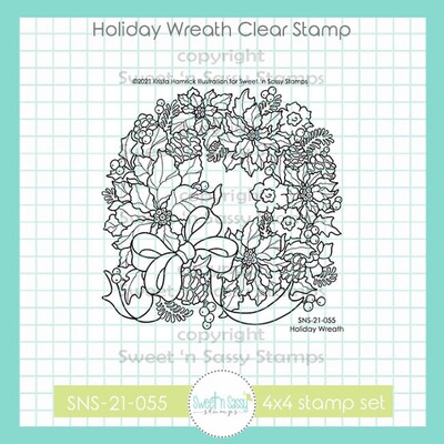 Holiday Wreath Clear Stamp