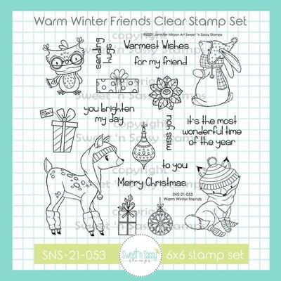 Warm Winter Friends Clear Stamp Set