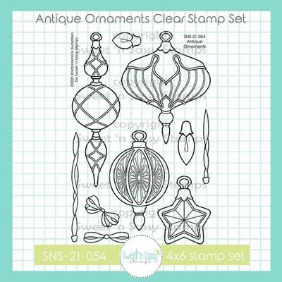 Antique Ornaments Clear Stamp Set