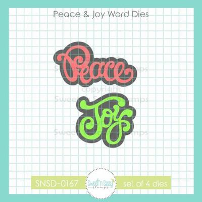 Peace & Joy Word Dies