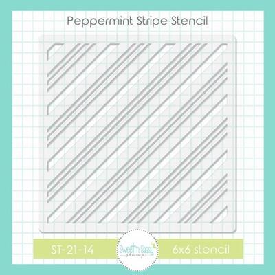 Peppermint Stripe Stencil