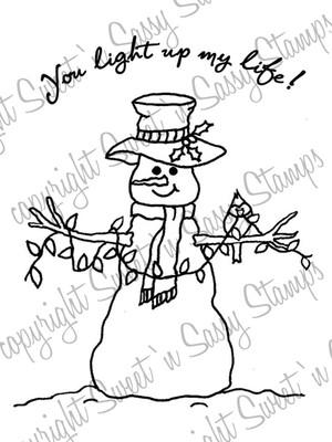 You Light Up My Life Snowman Digital Stamp