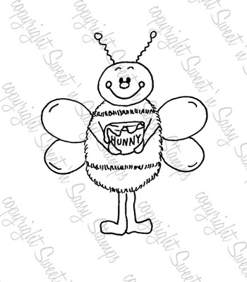 Sweet as Hunny Bee Digital Stamp