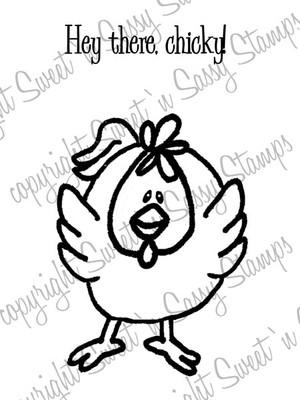Hey Chicky Digital Stamp