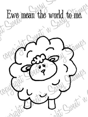 Ewe Mean the World Digital Stamp
