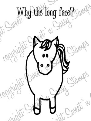 Why the Long Face? Digital Stamp