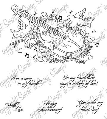 Melody of Love Digital Stamp
