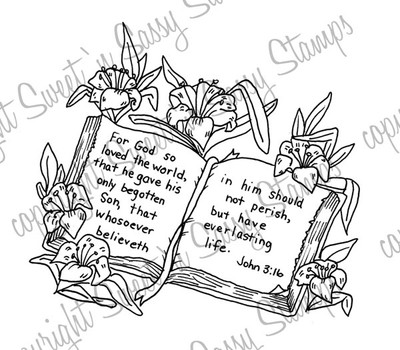 John 3:16 Bible Digital Stamp