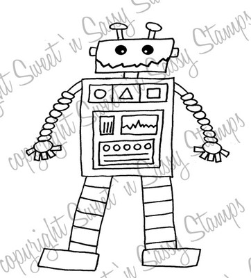 Toy Robot Digital Stamp
