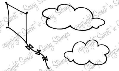 Fly A Kite Digital Stamp