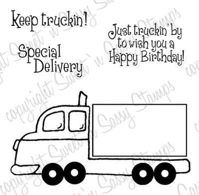 Keep Truckin' Digital Stamp