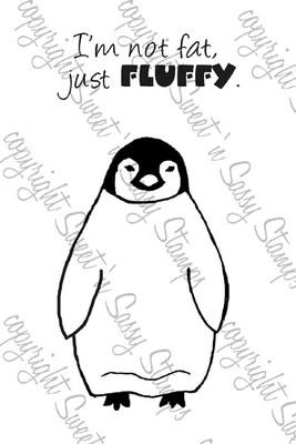 Just Fluffy Penguin Digital Stamp