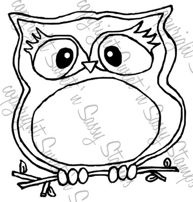Olivia Owl Digital Stamp