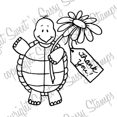 Thankful Tommy Turtle Digital Stamp