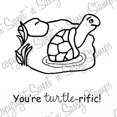 Turtle-rific Digital Stamp