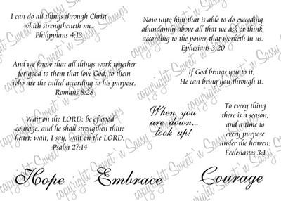 Encouragement Scripture Digital Stamp