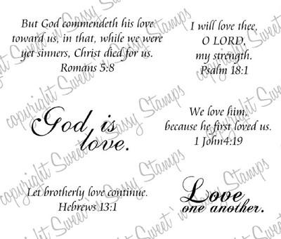 God is Love Digital Stamp