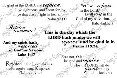 Rejoice in the Lord Digital Stamp