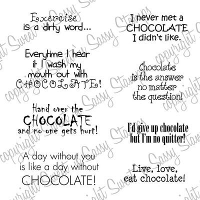 Chocolate Sentiments Digital Stamp