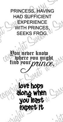 Princess Seeks Frog Digital Stamp