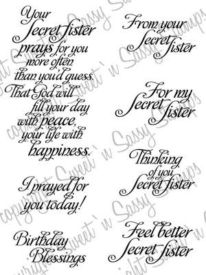Secret Sister Sentiments Digital Stamp