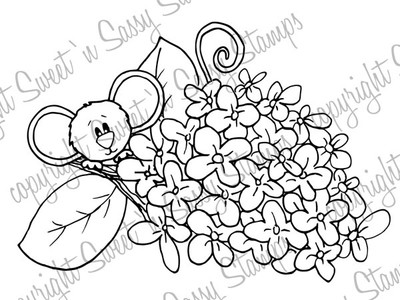 Lilacs for Cocoa Digital Stamp