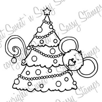 Cocoa's Christmas Tree Digital Stamp