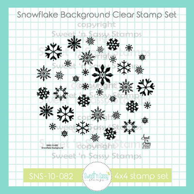 Snowflake Background Clear Stamp