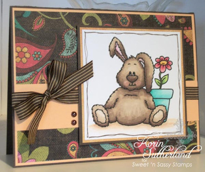 Benjamin Bunny Colored Brown Digital Stamp
